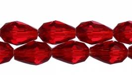 Бусина капля 12 мм красная