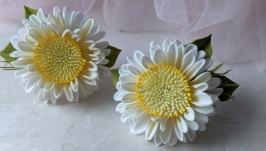 заколки для волос с цветочками