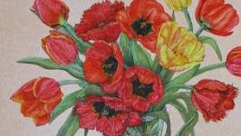 Тюльпани та малинівки (Малюнок)