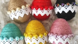 Set of 6 Easter decorative eggs