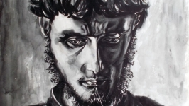 Юноша (вольная копия с картины П.Корина) Youth (free copy of P. Korin′s pai
