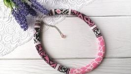 Жгут из бисера Розовый туман