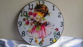 Настенные часы ′Малышка′ в детскую комнату, для девочки, подарок дочке