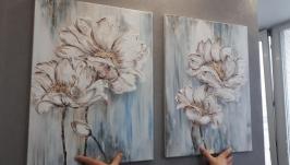 Модульная интерьерная картина «Цветы», диптих.