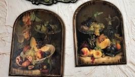 Панно ′Натюрморт с фруктами′ - 2шт.