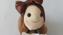 Текстильная интерьерная кукла ручной работы Эмма