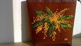 Сумка з вишивкою ′Мимоза′.