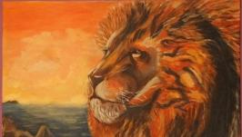 Картина голова льва