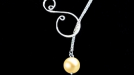 Lariat Silver Necklace Jewelry Pendant Pearls Akoya Tahiti gift new sotuar