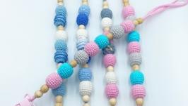 Crochet teether holder