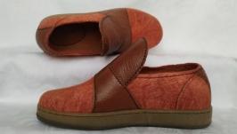 Валяные туфли- слипоны
