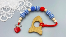 Wooden teether, teether, pacifier or teether holder