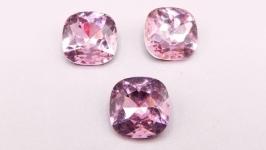 Кристалл 10 мм квадрат подушечка стразы розовый хрусталь стекло