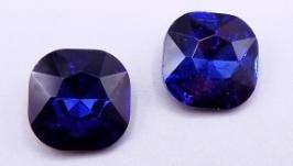 Кристалл 12 мм квадрат подушечка стразы синий монтана хрусталь стекло