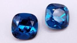 Кристалл 12 мм квадрат подушечка стразы синий циркон хрусталь стекло