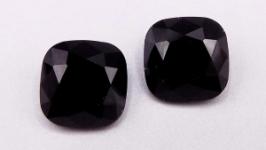 Кристалл 12 мм квадрат подушечка стразы серый ′черный бриллиант′ хрусталь