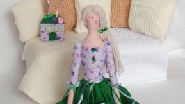 Кукла в стиле Тильда Фея домашнего очага 48см