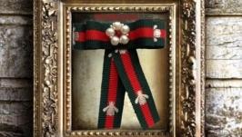 Брошь Орден галстук Италия вышитая украшения ручная работа подарок тренд