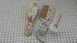 Набор расчесок ′Полевые цветы′