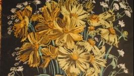 Оригинальная картина Полевые цветы Цветочная живопись Настенное искусство