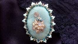 Brooch Order Necktie embroided Bowtie handmade jewelery gift present trendy