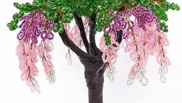 Дерево глицинии из бисера