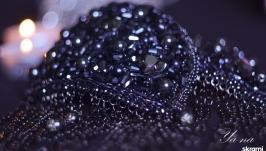 комплект украшений из бисера с эполетами ′Созвездие Волосы Вероники′.