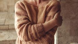 Striped sweater raglan