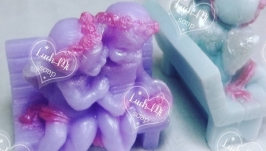 Мыло ручной работы ′Ангелочки на лавочке′