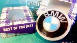 Сувенирное мыло ручной работы ′знак BMW′