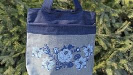 Embroidered Boho Bag, Large Tote Bag, Shopping Bag, Floral Tote Bag, Hippie