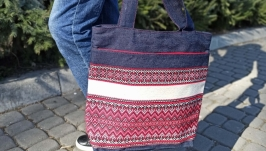 Denim tote bag, Denim shoulder bag, jeans bag