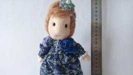 Текстильная интерьерная кукла ручной работы Лидия