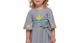 Дитяча сукня вишиванка «Сяйво» сіра
