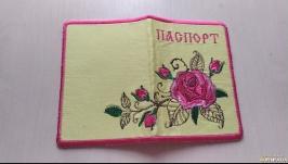 Обложка на паспорт′Роза с шипами′