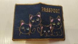 Обложка на паспорт′Котики′