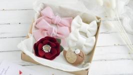 Набор детских заколок и резинок для девочки  Резинки и заколки малышке