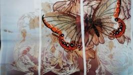 triptych 'Velvet wings'