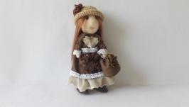 Текстильнай кукла ручной работы Николь