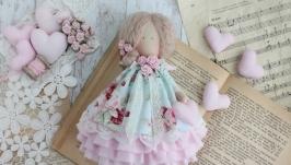 Интерьерная текстильная кукла, в стиле Тильда ангел.