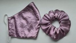 Комплект: маска защитная  резинка для волос