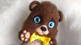 Мишка  валяный из шерсти ′ Малыш′