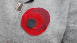 Брошь Красный мак ко Дню Победы