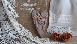 Подвеска сердце Розы