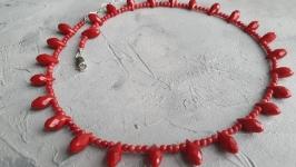 Бусы ′Натуральные красные кораллы′