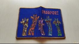 Обложка на паспорт′Радужные жирафчики′
