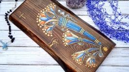 Синий лотос египетская символика,картина мистический орнамент