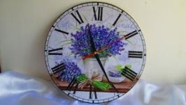 Настенные часы ′Лаванда′ в стиле Прованс, интерьерные часы