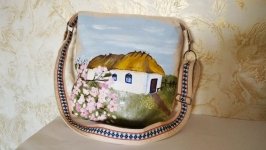 Dizainers women′s bag in ethnic ukrainian style