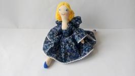 Интерьерная текстильная кукла в стиле тильда